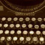 Typing - an image of a typewriter