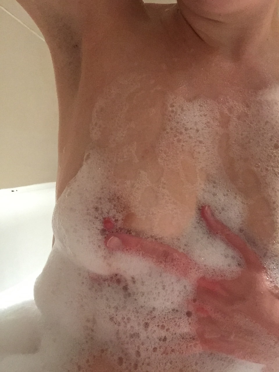 Bubbles - an image of me in the shower