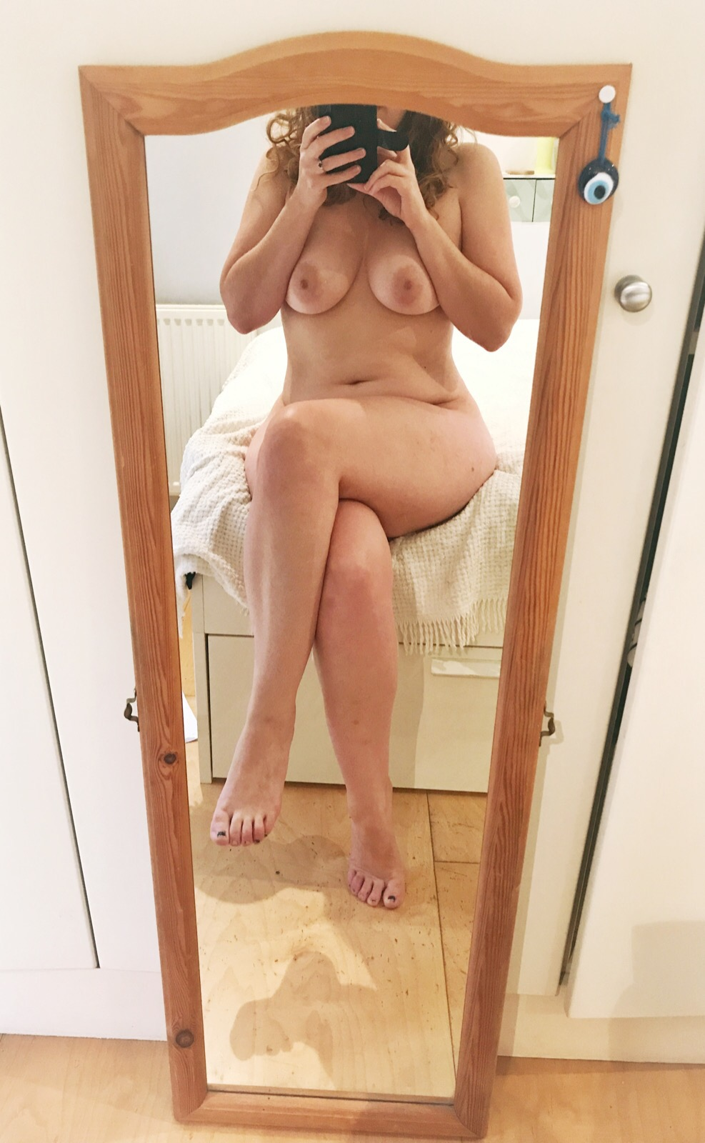 Naked Girl In Mirror