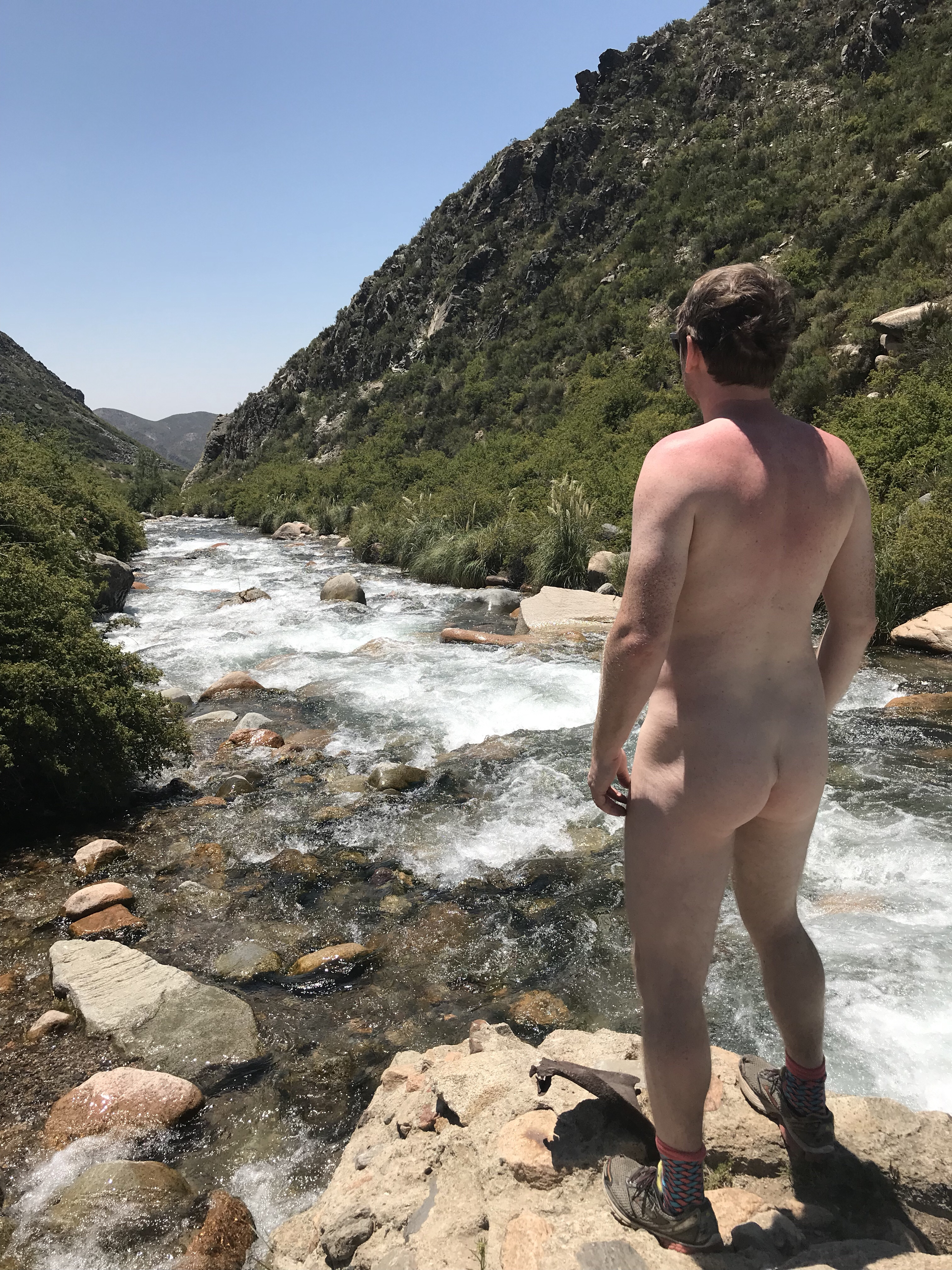 Our holiday routine - public nakedness in beautiful places