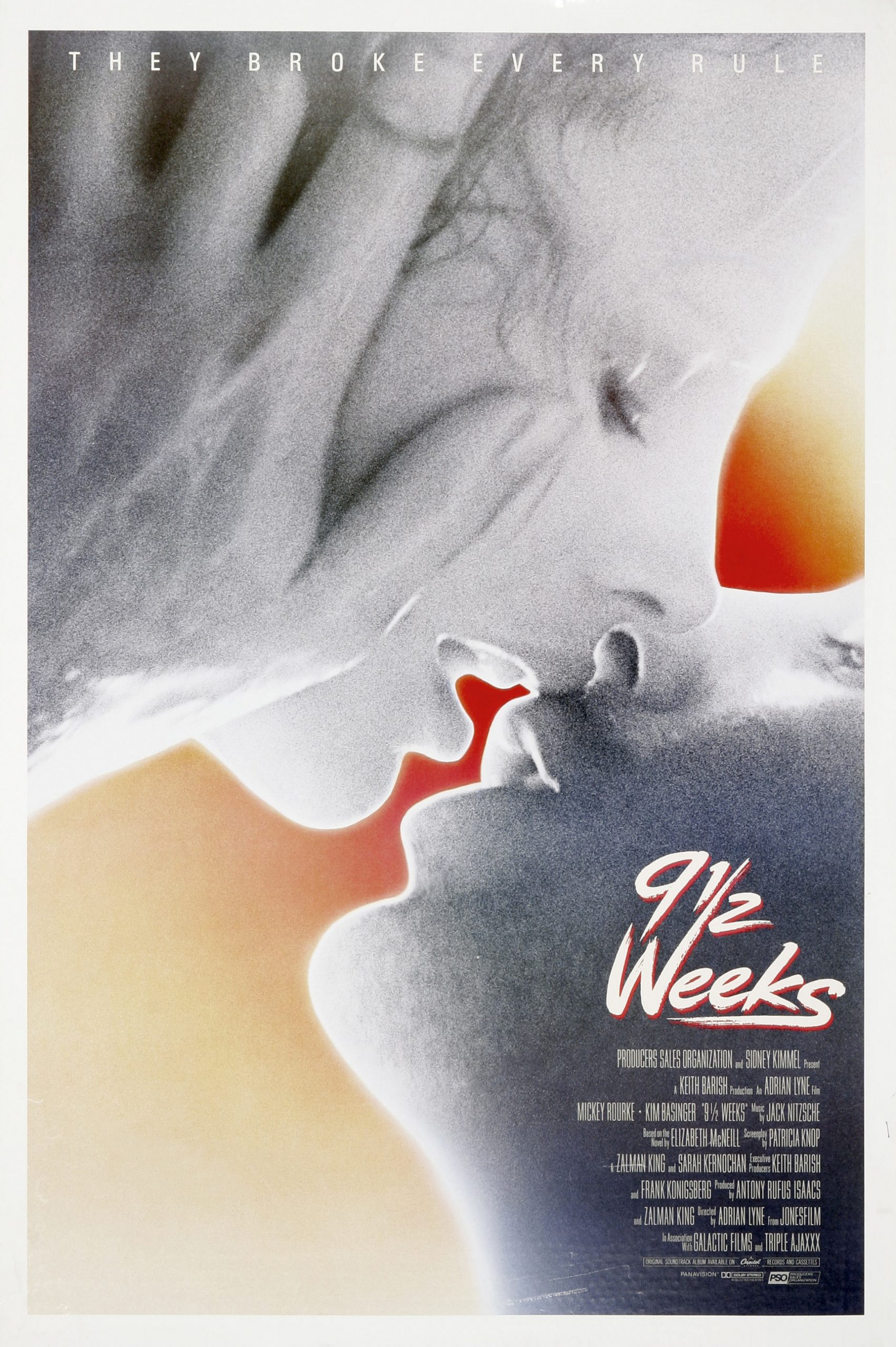 The original Nine 1/2 Weeks poster