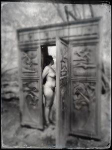 Me, naked, about to walk through the wardrobe...