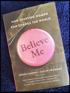 A photo of the book, 'Believe Me'